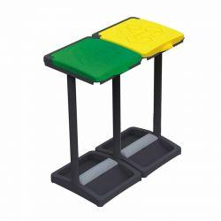 Διπλή Βάση για Σακούλες Απορριμμάτων με Χρωματιστά Καπάκια 64 x 36 x 81 cm MWS17008