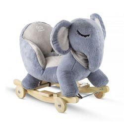 Παιδικό Κουνιστό Ελεφαντάκι με Ρόδες KinderKraft KKZSLONGRY0000