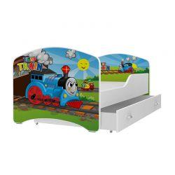 Ξύλινο Παιδικό Μονό Κρεβάτι με Στρώμα και 1 Συρτάρι 160 x 80 cm SPM JAN-IGOR160-43