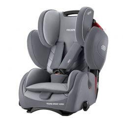Παιδικό Κάθισμα Αυτοκινήτου Χρώματος Γκρι για Παιδιά 9-36 Kg Recaro Young Sport Hero Aluminium 62032150366