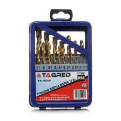 Σετ Τρυπάνια Τιτανίου HSS 1 - 10 mm 19 τμχ TAGRED TA1035