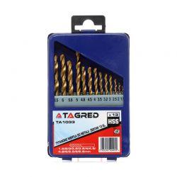 Σετ Τρυπάνια Τιτανίου HSS 1.5 - 6.5 mm 13 τμχ TAGRED TA1033