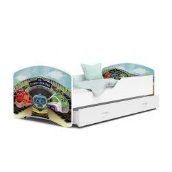 Ξύλινο Παιδικό Μονό Κρεβάτι με Στρώμα και 1 Συρτάρι 160 x 80 cm SPM JAN-IGOR160-73