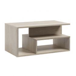 Ξύλινο Τραπέζι Σαλονιού 90 x 51 x 43 cm Χρώματος Καφέ Ανοιχτό SPM Leka JAN-LEKAOAK