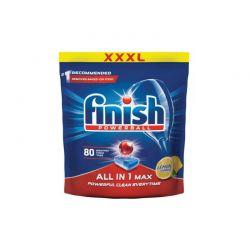 Απορρυπαντικό Πλυντηρίου Πιάτων Finish All In 1 Max Λεμόνι 80 Ταμπλέτες Fin-Allin1-80L