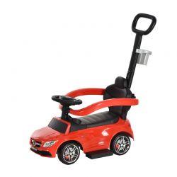 Αυτοκινητάκι - Περπατούρα Licensed PP Mercedes-Benz με Λαβή Γονέα Χρώματος Κόκκινο HOMCOM 370-112RD