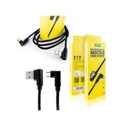 Καλώδιο Φόρτισης / Δεδομένων USB to Micro USB 90 ° 1 m APPACS APO3187-Black