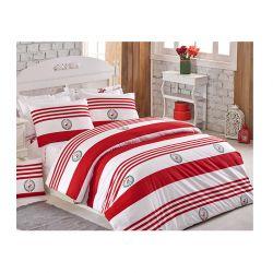 Σετ Μονή Παπλωματοθήκη με Μαξιλαροθήκη και Σεντόνι 160 x 220 cm Beverly Hills Polo Club 003 Χρώματος Κόκκινο
