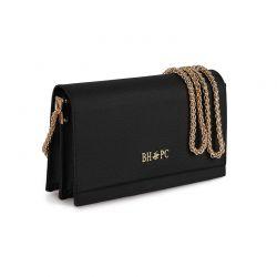 Γυναικεία Τσάντα Ώμου με Αλυσίδα Χρώματος Μαύρο Beverly Hills Polo Club 668BHP0174