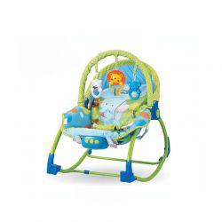 Παιδικό Ρηλάξ - Κούνια 2 σε 1 Χρώματος Μπλε Hoppline HOP1001015-1