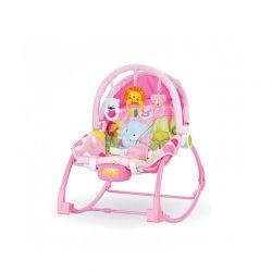 Παιδικό Ρηλάξ - Κούνια 2 σε 1 Χρώματος Ροζ Hoppline HOP1001015-2