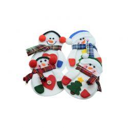 Σετ Χριστουγεννιάτικες Θήκες για Μαχαιροπίρουνα Χιονάνθρωπος 4 τμχ SPM DYN-5056174854616