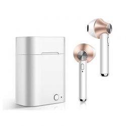 Ασύρματα Ακουστικά Bluetooth με Βάση Φόρτισης Χρώματος Copper Kequ DYN-K407