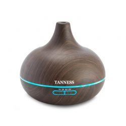 Ηλεκτρικός Διαχυτής Αρώματος και Υγραντήρας 300 ml Χρώματος Σκούρο Καφέ Tanness DB5938