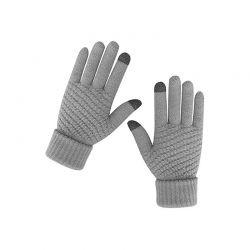 Πλεκτά Γάντια για Οθόνη Αφής Χρώματος Γκρι SPM DB7168