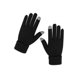 Πλεκτά Γάντια για Οθόνη Αφής Χρώματος Μαύρο SPM DB7167