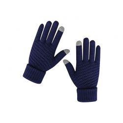 Πλεκτά Γάντια για Οθόνη Αφής Χρώματος Navy SPM DB7169