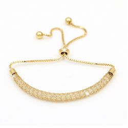 Βραχιόλι με Κρύσταλλα Swarovski® Χρώματος Χρυσό Beloved 652056