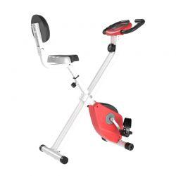 Αναδιπλούμενο Μαγνητικό Ποδήλατο Γυμναστικής Χρώματος Κόκκινο HOMCOM A90-192RD
