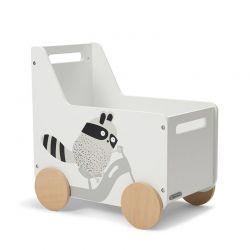 Ξύλινο Παιδικό Κουτί Αποθήκευσης 55.5 x 54 x 35 cm KinderKraft Racoon KKHRACOSKR0000