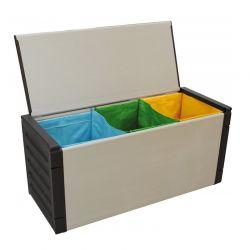 Κάδος Απορριμμάτων για Ανακύκλωση με 3 Διαμερίσματα 85 x 39 x 34 cm MWS17608