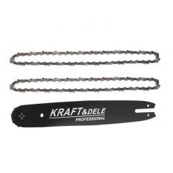 """Σετ Λάμα Αλυσοπρίονου και 2 Αλυσίδες 35 cm 14""""/ 50 / 3/8"""" / 1.3 mm Kraft&Dele KD-10150"""