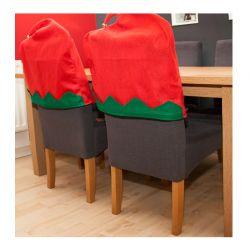 Σετ Χριστουγεννιάτικα Κάλυμματα Πλάτης Καρέκλας Ξωτικό SPM DYN-PM503041