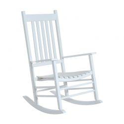 Ξύλινη Κουνιστή Καρέκλα 69 x 86 x 115 cm Χρώματος Λευκό Outsunny 84A-041WT