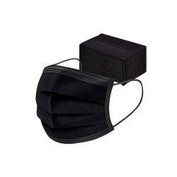 Μάσκες Προσώπου 3 Στρώσεων μιας Χρήσης Χρώματος Μαύρο 50 τμχ SPM DYN-5059059081374