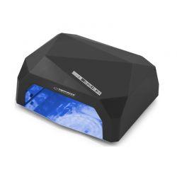 Φουρνάκι Νυχιών με 12 Λάμπες UV LED και CCFL 36 W Χρώματος Μαύρο Esperanza Onyx EBN002K