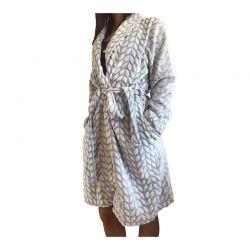 Γυναικεία Fleece Ρόμπα Χρώματος Γαλάζιο SPM E9541-LBLUE
