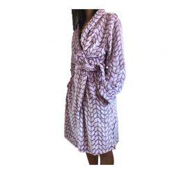 Γυναικεία Fleece Ρόμπα Χρώματος Μπορντό SPM E9541-WINE