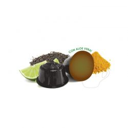 Κάψουλες Μαύρου Τσαγιού με Μοσχολέμονο και Κουρκουμά Neronobile