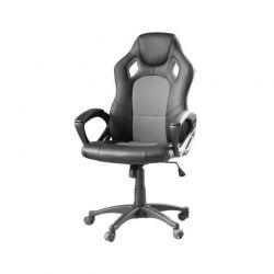 Καρέκλα Gaming Χρώματος Μαύρο - Γκρι Hoppline HOP1000870-1