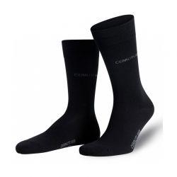 Σετ 3 Ζευγάρια Ανδρικές Κάλτσες 39-42 Χρώματος Μαύρο MWS2007-Black