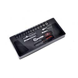 Εργαλειοθήκη με Εργαλεία 19 τμχ Bass Polska BP-3066