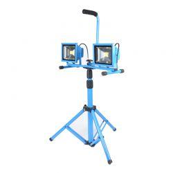 Προβολέας LED Αλογόνου Εργοταξιακός με Τρίποδο 2 x 30 W 5600 lm 6000 K Bass Polska BP-3915