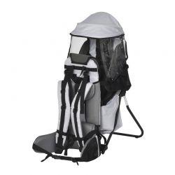 Σακίδιο Μεταφοράς Παιδιού με Προστατευτικό Κάλυμμα Βροχής Χρώματος Γκρι HOMCOM 430-002GY