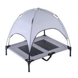 Υπερυψωμένο Κρεβάτι για Κατοικίδια με Σκίαστρο Large 76.5 x 91 x 91.5 cm Hoppline HOP1001145-2