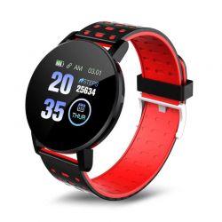Smartwatch 119 Plus με Μετρητή Καρδιακών Παλμών Χρώματος Κόκκινο - Μαύρο SPM