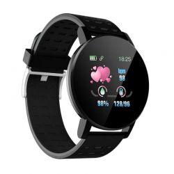 Smartwatch 119 Plus με Μετρητή Καρδιακών Παλμών Χρώματος Μαύρο SPM