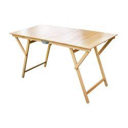 Ξύλινο Πτυσσόμενο Τραπέζι Εσωτερικού και Εξωτερικού Χώρου 140 x 70 x 78 cm MWS17837
