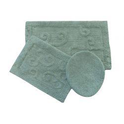 Σετ Πατάκια Μπάνιου 54 x 87 cm 3 τμχ Χρώματος Γαλάζιο HUDSON N.LONGLEAF21