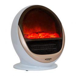 Επιδαπέδια Περιστρεφόμενη Θερμάστρα με LED Εφέ Φλόγας 1500 W Wintem WR-0561
