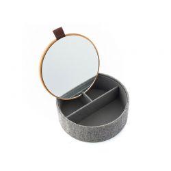Κοσμηματοθήκη - Μπιζουτιέρα από Μπαμπού με Καθρέπτη 15.5 x 6 x 15.5 cm InnovaGoods V0103056