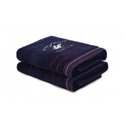 Σετ με 2 Πετσέτες Μπάνιου 70 x 140 cm Χρώματος Navy Beverly Hills Polo Club 355BHP2467