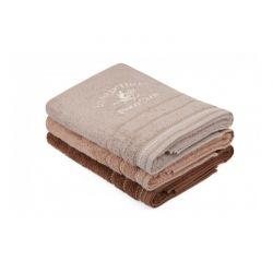 Σετ με 3 Πετσέτες Μπάνιου 70 x 140 cm Χρώματος Καφέ Beverly Hills Polo Club 355BHP2472
