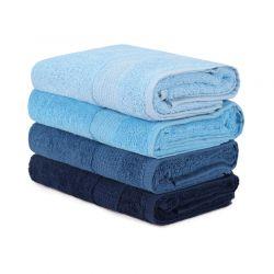 Σετ με 4 Πετσέτες Προσώπου 50 x 90 cm Χρώματος Μπλε Beverly Hills Polo Club 355BHP2373