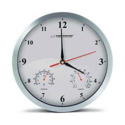 Ρολόι Τοίχου Esperanza Washington Χρώματος Λευκό EHC008W