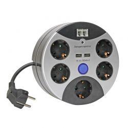 Πολύπριζο Ασφαλείας 5 Θέσεων με 2 Θύρες USB και 2 Υποδοχές Τηλεφώνου Kopp 4608299